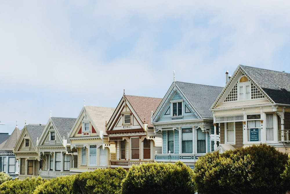 A picture of houses