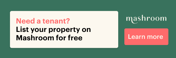 a green banner which says 'need a tenant? list your property on Mashroom for free'